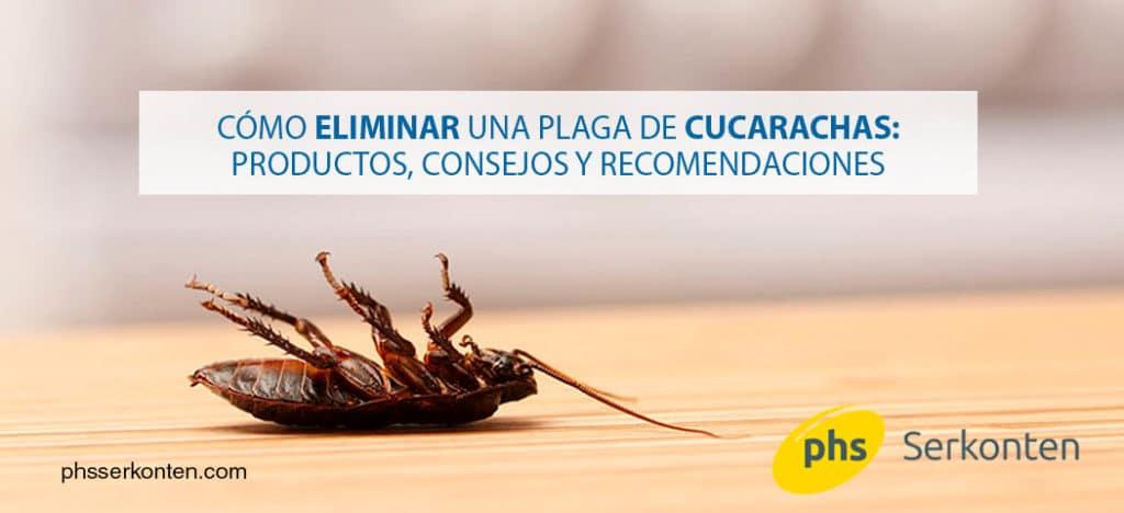 eliminar una plaga de cucarachas