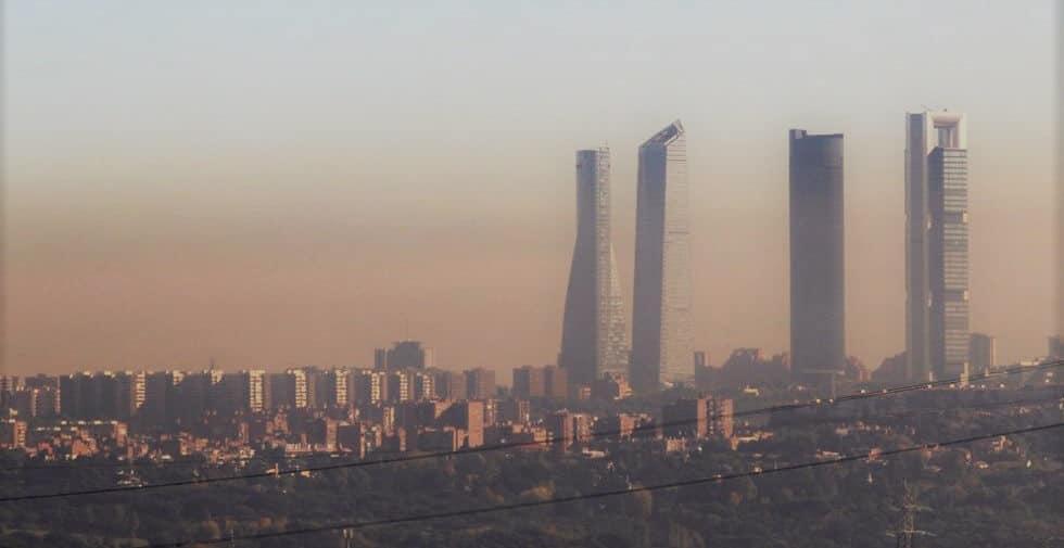 Contaminación en el aire de madrid