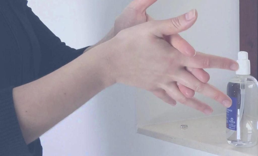 lavado de manos en seco