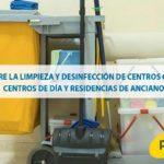 Todo sobre la limpieza y desinfección de centros geriátricos, centros de día y residencias de ancianos.