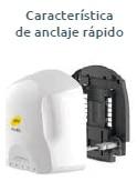 Fotografía Secadores de manos características del anclaje del producto