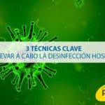 3 técnicas clave para llevar a cabo la desinfección hospitalaria