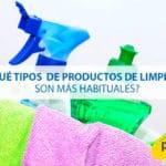 ¿Qué tipos de productos de limpieza son los más habituales?