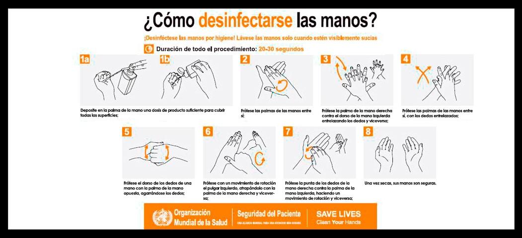 Desinfectar las manos