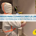 Los 5 pasos para llevar a cabo la limpieza, desinfección y esterilización contra el coronavirus